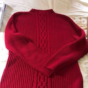 Talbot cable knit thick winter sweater size XL